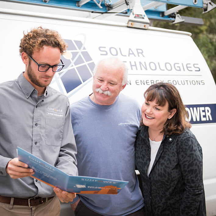 Solar rep with happy customers